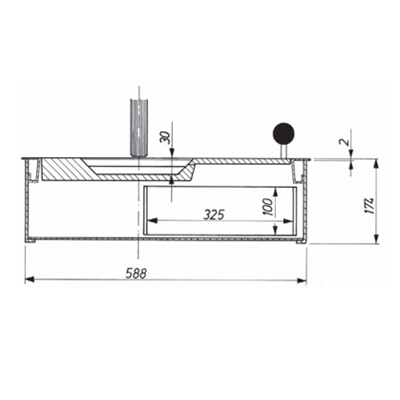 Sliding tray, modelB40S